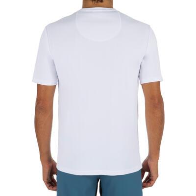חולצת גברים, שרוולים קצרים, הגנת UV - לבנה