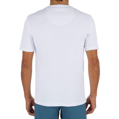 WATER TEE SHIRT top anti UV surf Manches Courtes Homme  Blanc