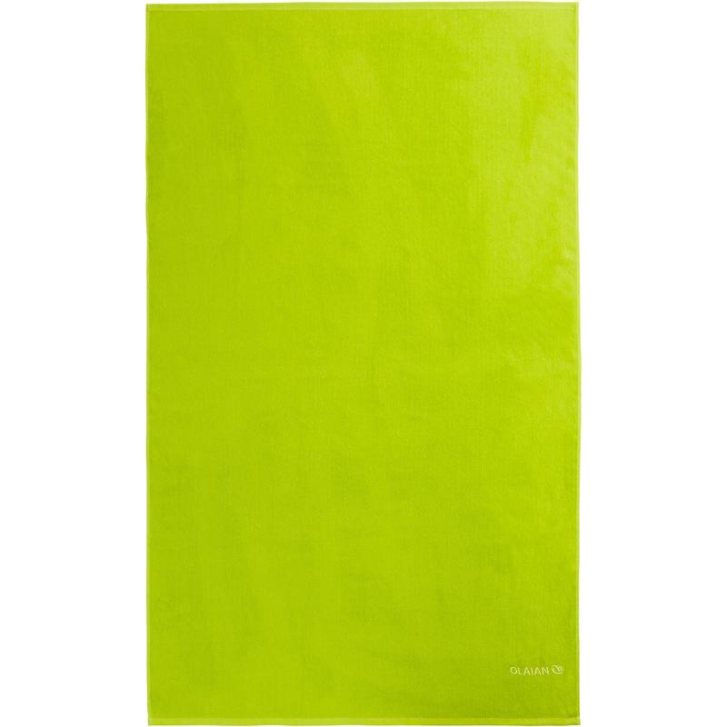 Serviette BASIC L Vert Lime 145x85 cm