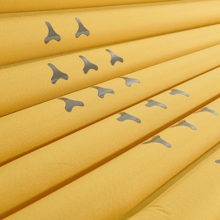 Slaapmatje voor trekking Trek 700 air XL geel