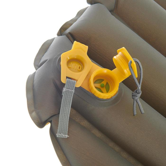 Colchón inflable de trekking 700 air XL amarillo