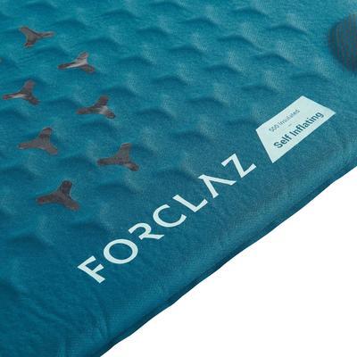 Esterilla Aislante Montaña Trekking Forclaz TREK500 L Autoinflable Azul