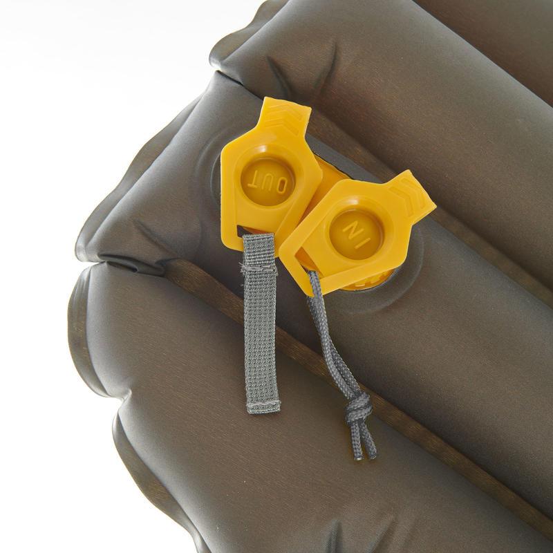 Colchón inflable de trekking TREK700 air L amarillo