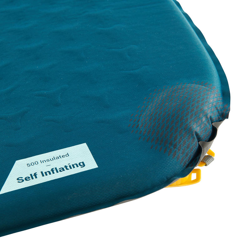Self-inflating trekking mattress - TREK 500 XL - Blue