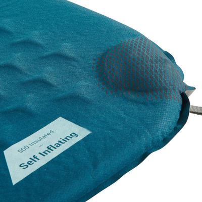 מזרן טיולים לניפוח עצמי מדגם 500 בצבע כחול