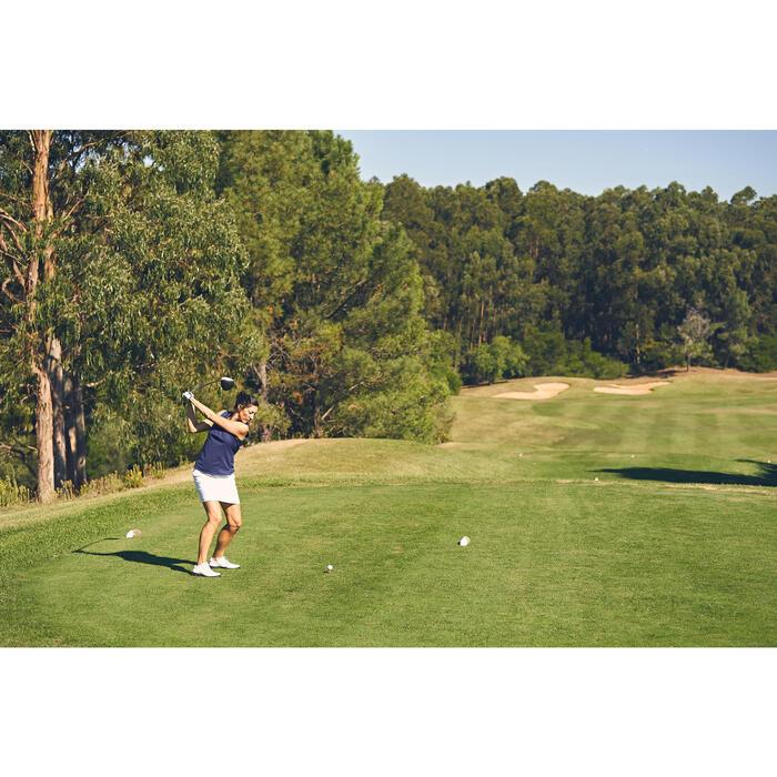 Mouwloze golfpolo 900 voor dames, warm weer, donkerblauw