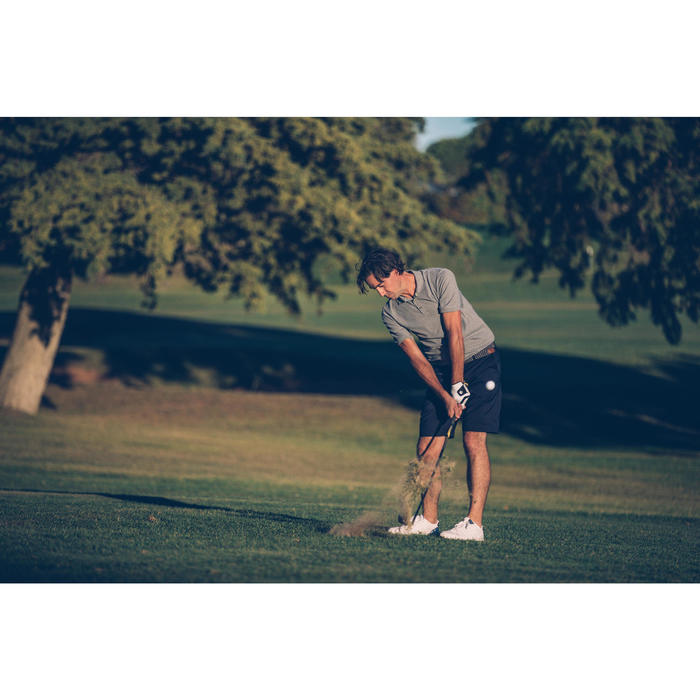 Golf Poloshirt 900 Kurzarm Herren grau meliert