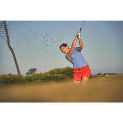 Rekbare riem voor golf, volwassenen, koraalrood maat 1