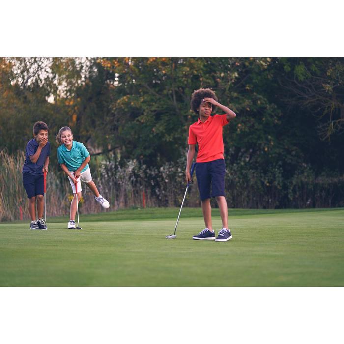 Golfpolo met korte mouwen voor kinderen koraalrood