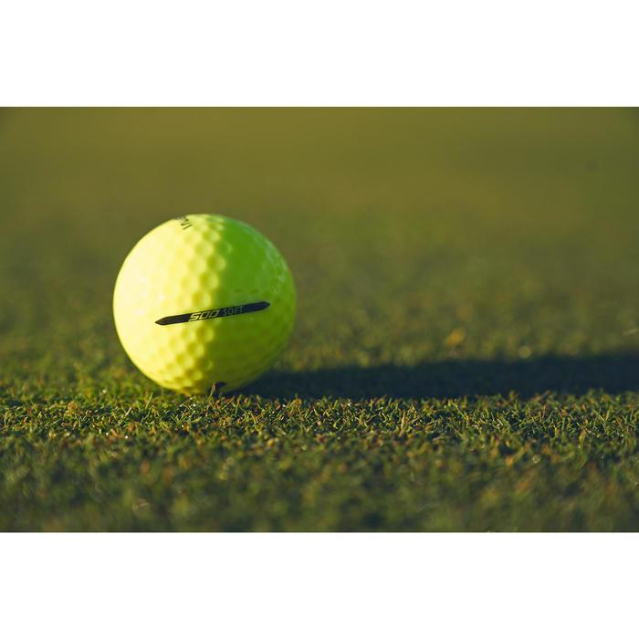 Golfbälle Soft 500 12 Stück gelb