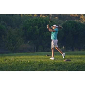 Polo de golf niños manga corta 900 tiempo caluroso turquesa