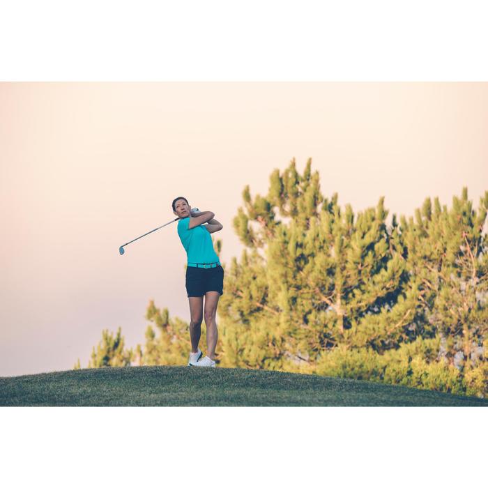 Rekbare broeksriem voor golf volwassenen turkoois maat 1
