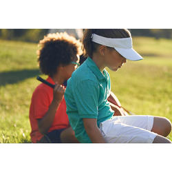 Ademende golfpolo voor kinderen turquoise
