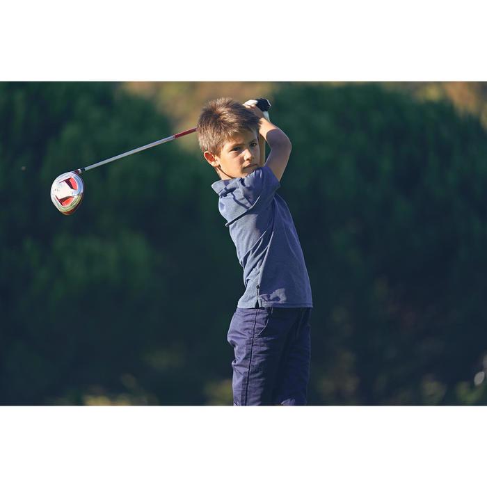 Polo golf enfant respirant bleu