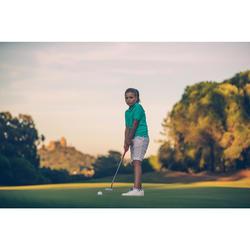 Golf Poloshirt kurzarm Kinder türkis