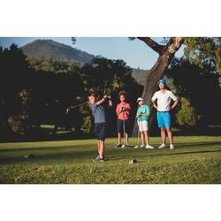 Golf Poloshirt atmungsaktiv Kinder blau