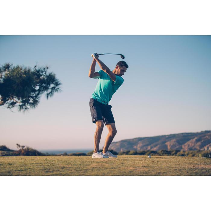 Rekbare riem 500 voor golf volwassenen turquoise maat 2