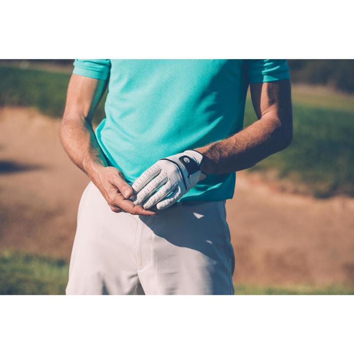 Guante de golf hombre 500 avanzado y experto diestro blanco