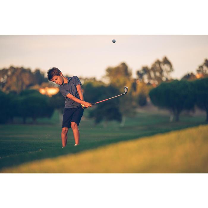 Polo de golf niños manga corta 900 tiempo caluroso azul