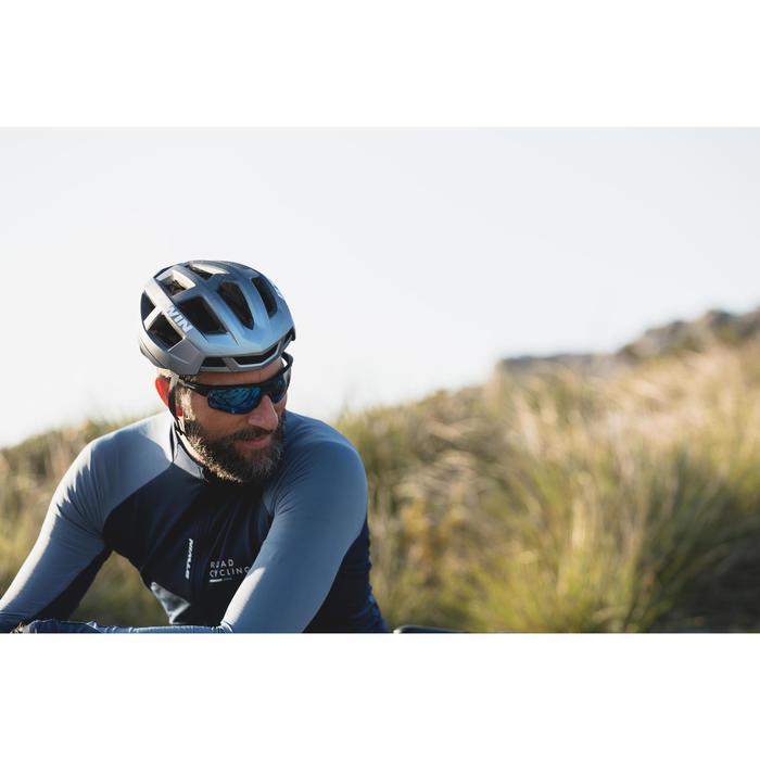 Fahrradhelm Rennrad Aerofit 900 blau