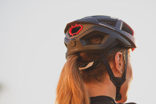 Fahrradhelm Rennrad Aerofit 900 rosa