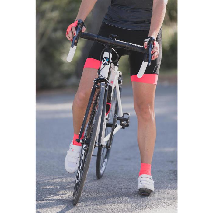 Fahrradschuhe Rennrad 500 rosa/weiß