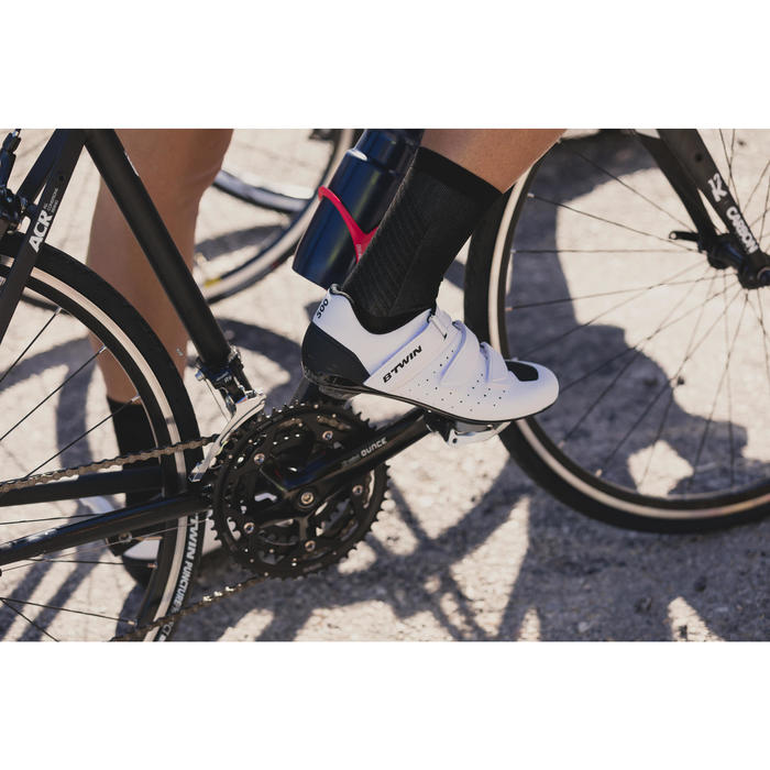 Fahrradschuhe Rennrad 500 weiß