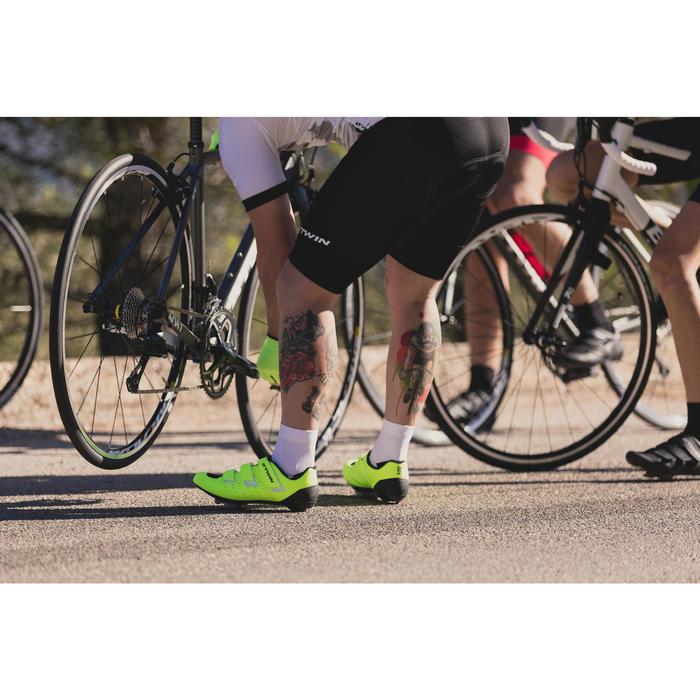 Fietsschoenen racefiets RoadRacing 500 fluogeel