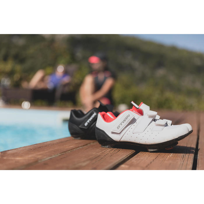 Zapatillas ciclismo carretera RoadRacing 500 ROSA BLANCO