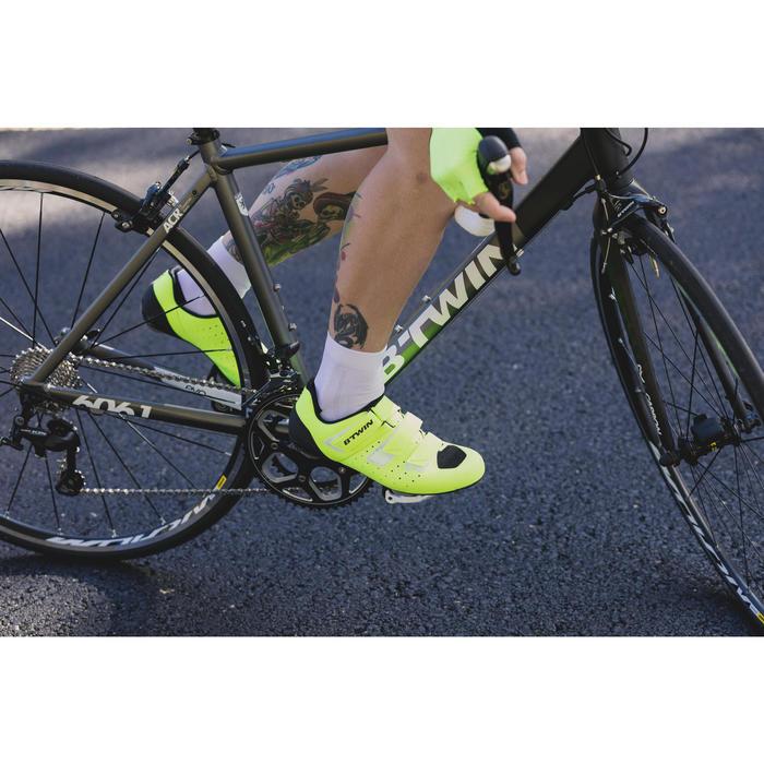 Fietsschoenen racefiets 500 fluogeel