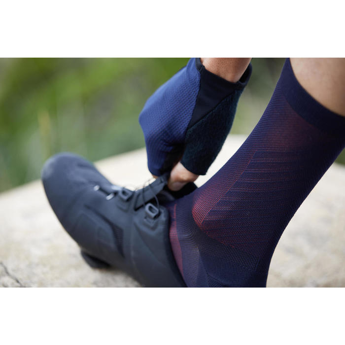 900 Road Cycling Socks - Navy/Red - 1307495