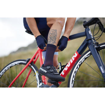Chaussettes Vélo ROUTE 900 bleu marine/rouge