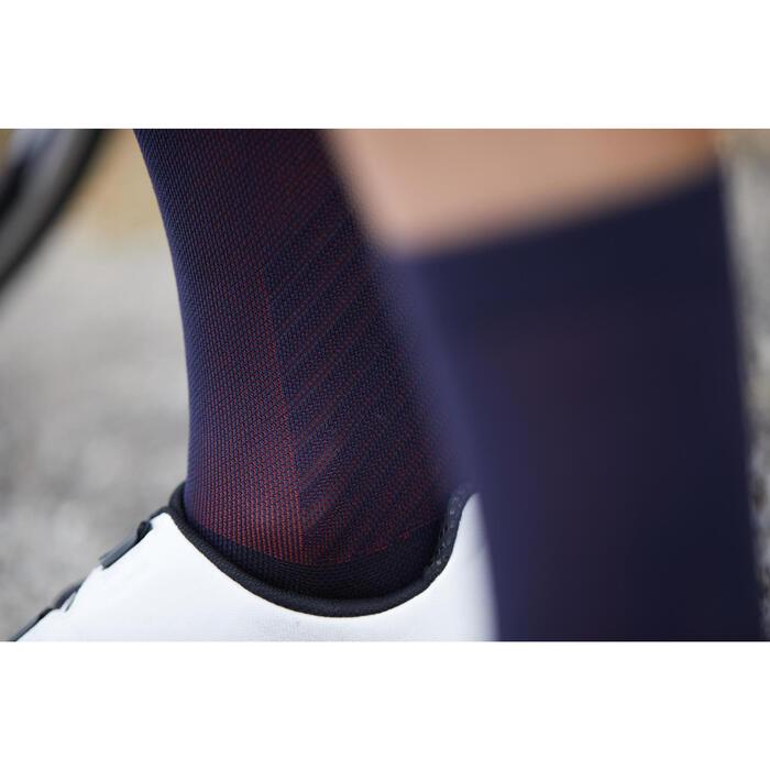 Fietssokken racefiets 900 zwart/roze