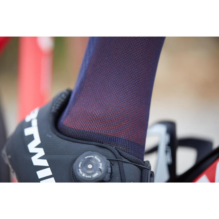 900 Road Cycling Socks - Navy/Red - 1307524
