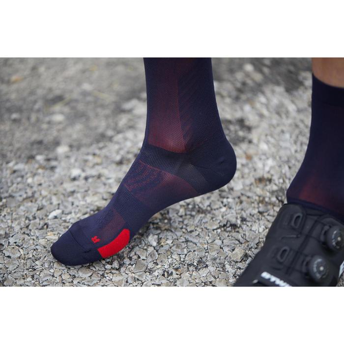 Fietssokken racefiets 900 fluogeel/zwart