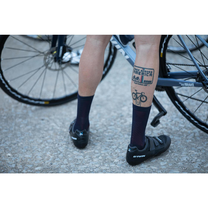 900 Road Cycling Socks - Navy/Red
