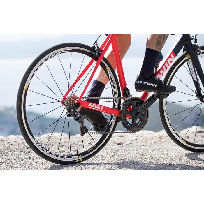 Chaussettes Vélo ROUTE 900 noir/gris