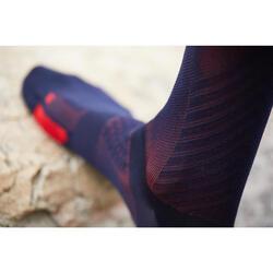 Fietssokken racefiets 900 marineblauw/rood