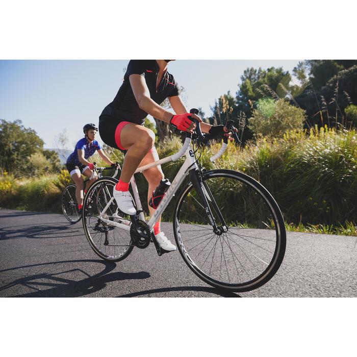 Guantes ciclismo ROADR 500 ROSA FLUO