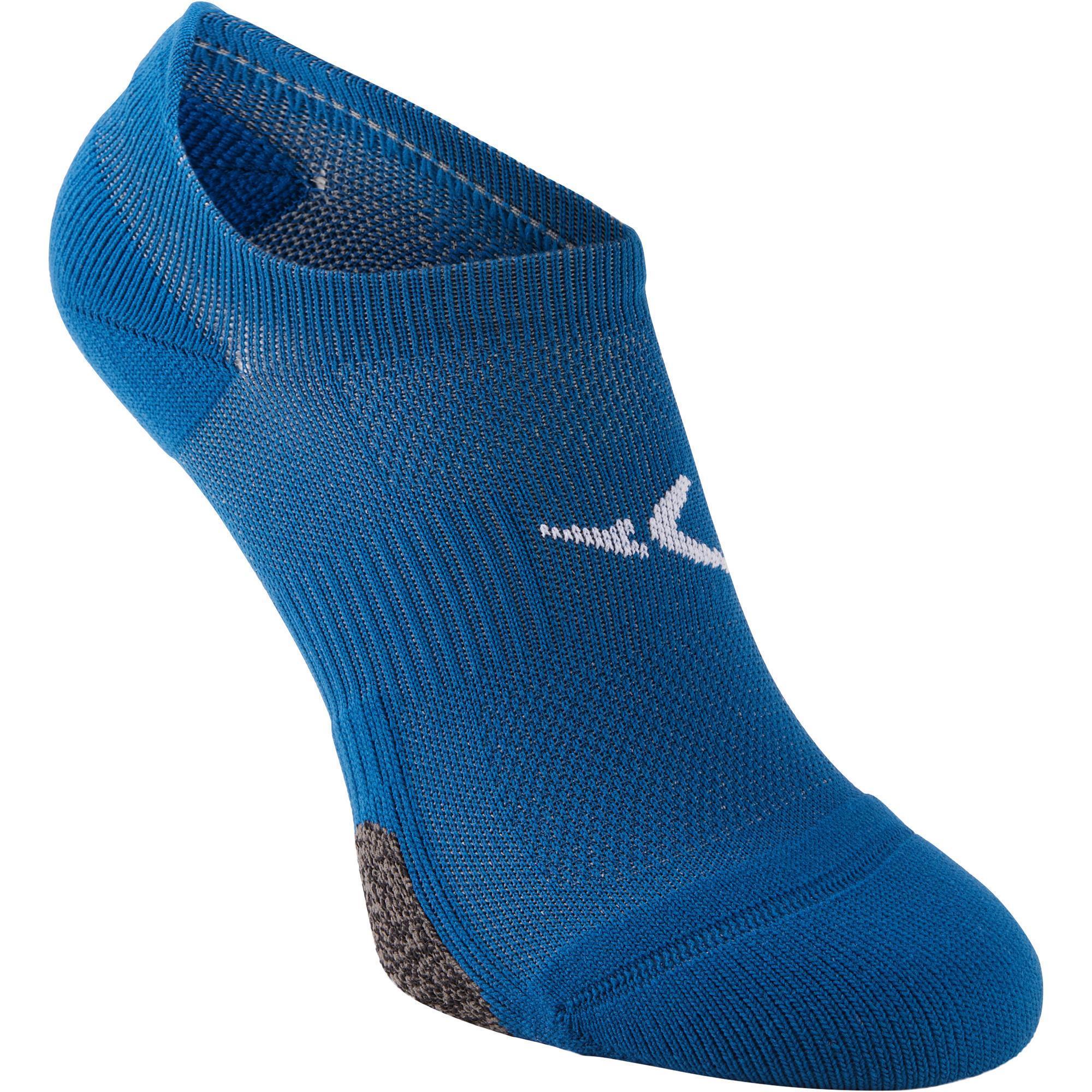 Sportsocken Cardio Fitness 2er-Pack Invisible blau | Sportbekleidung > Funktionswäsche > Sportsocken | Blau - Türkis | Domyos