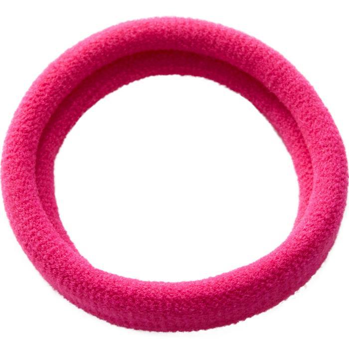 Elástico para el pelo fitness cardio-training para mujer negro rosa y gris