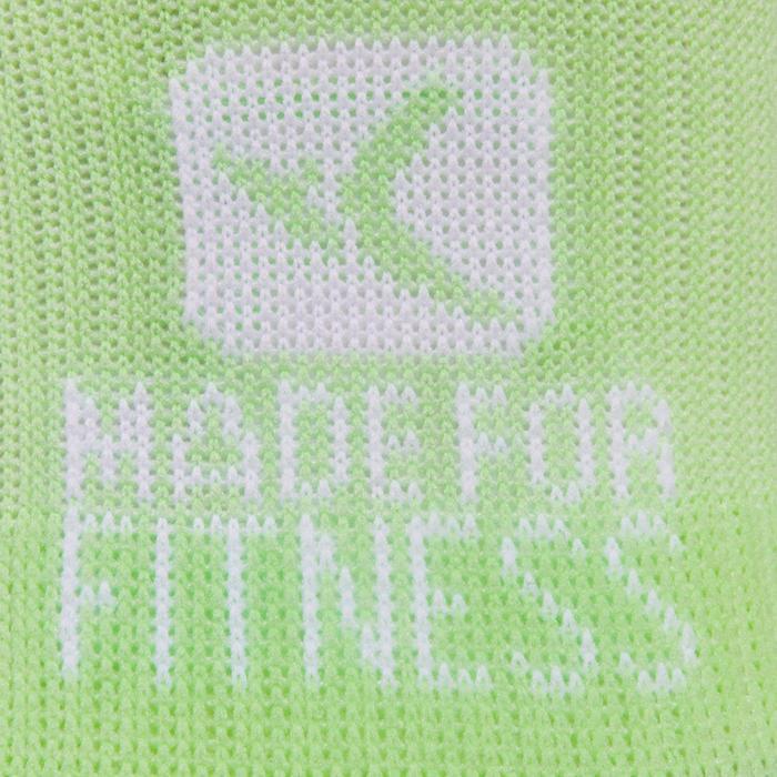 Calcetines cortos fitness cardio training x2 verde
