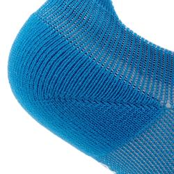 Calcetines Fitness Cardio Domyos Adulto Azul Prusia Pack 2 Invisibles