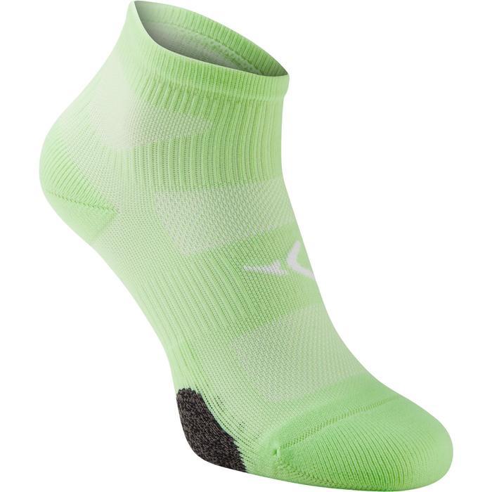 Chaussettes basses fitness  cardio training x2 vert