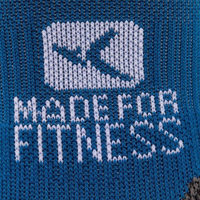 Sportsocken kurz Fitness 2er-Pack Erwachsene blau