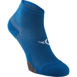 Lage fitnesssokken x 2 blauw