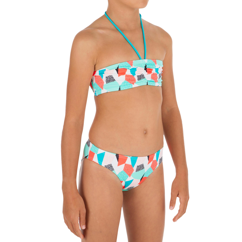 Bikini banda niña LALI CALI AZUL/VERDE