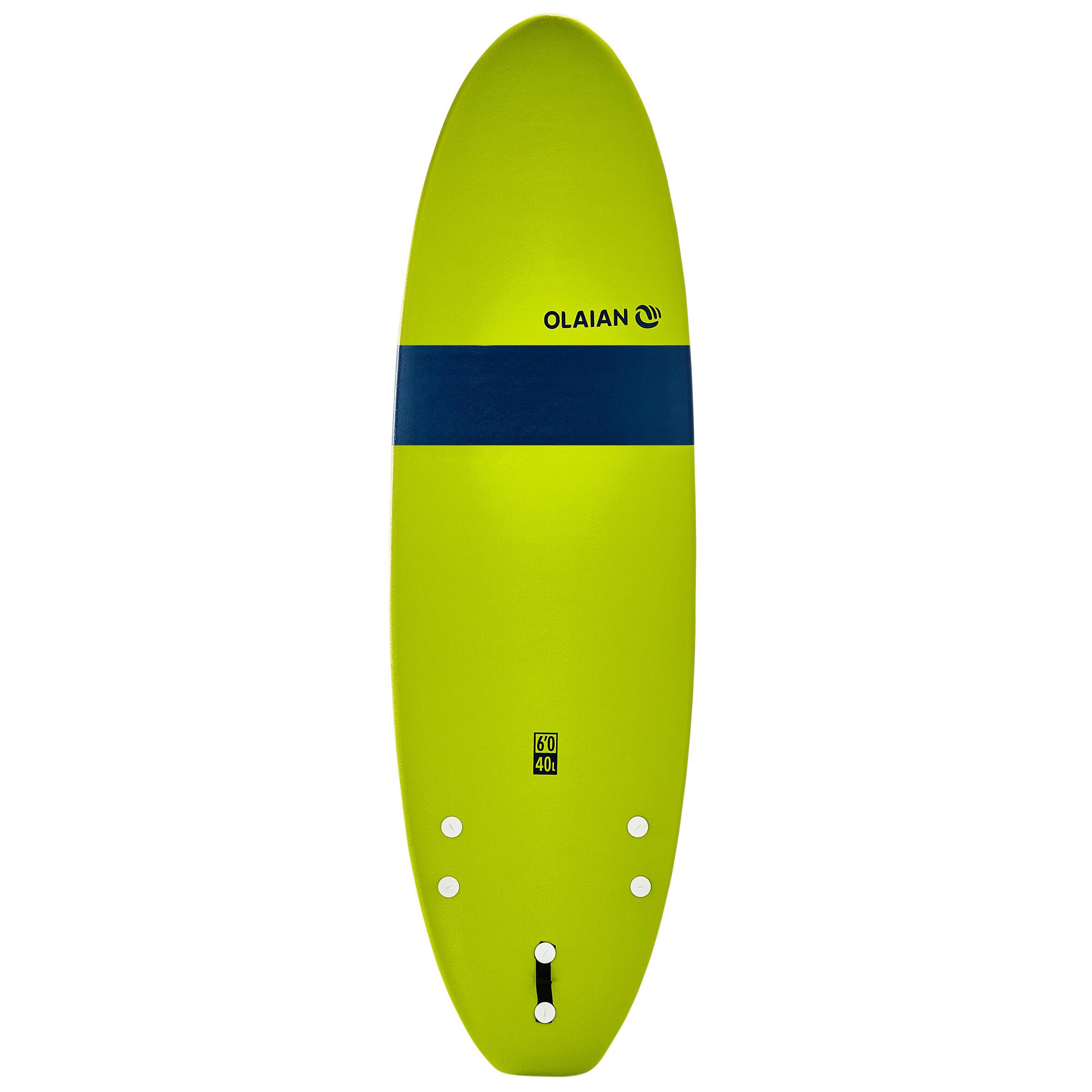 Tabla de surf de espuma 100 6'. Se entrega con una correa y quillas.