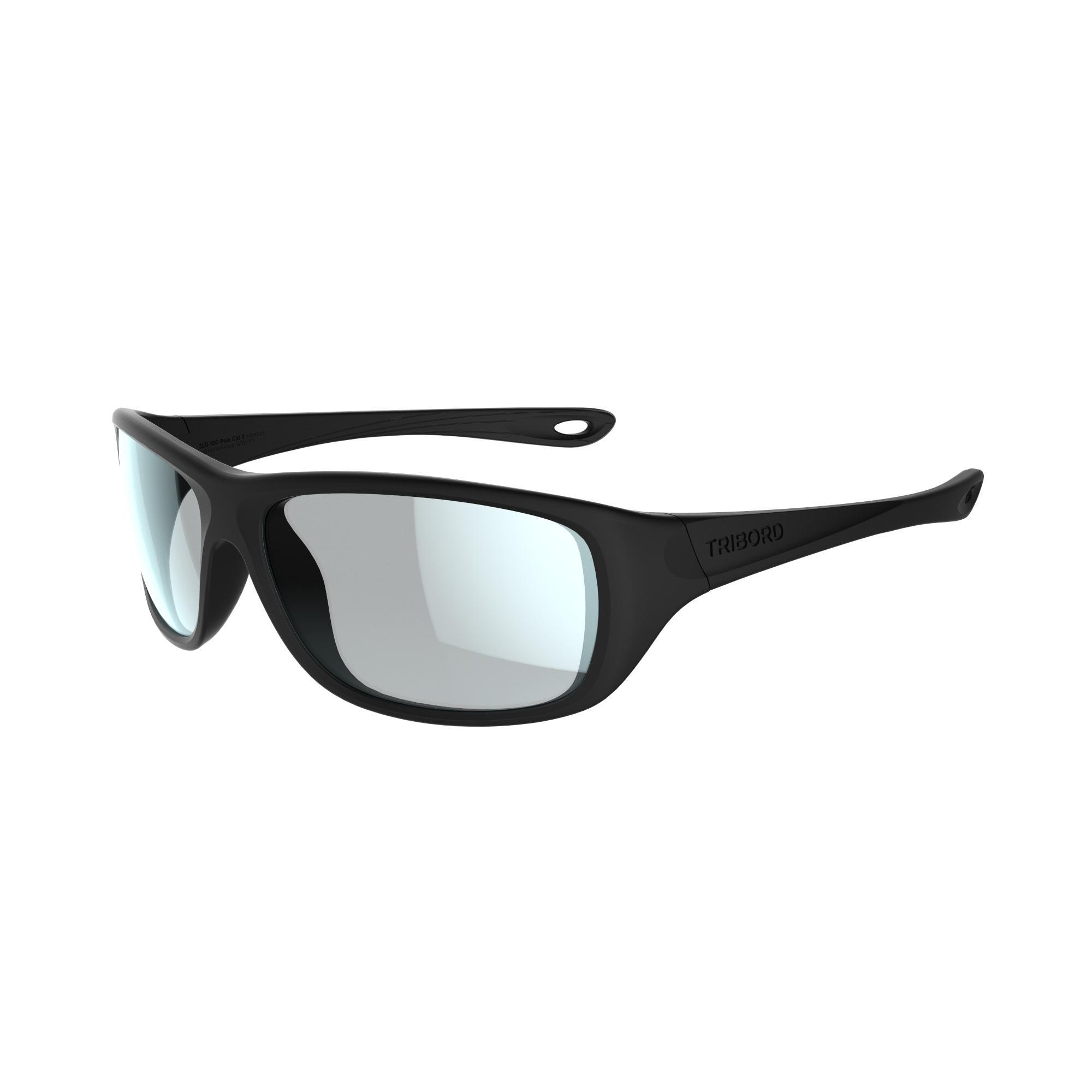 Tribord Watersportbril 300 voor volwassenen, zwart, drijvend, polariserend categorie 3