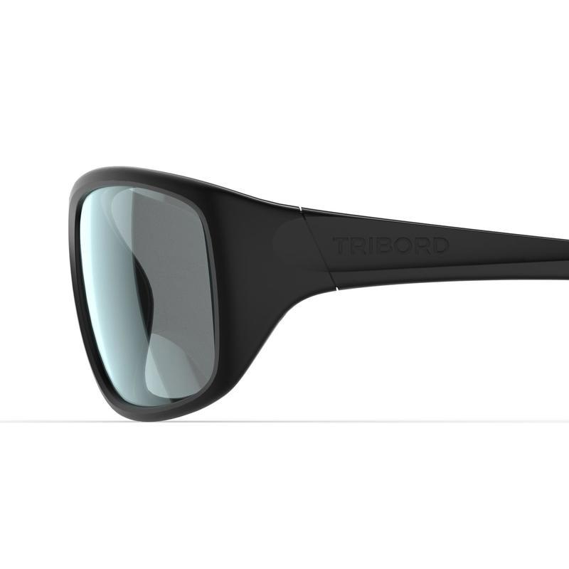 Lentes de sol para vela adultos 300 negro, flotantes, polarizados, categoría 3